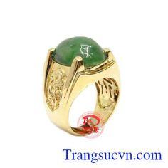 Nhẫn vàng 14k Jadeite thiên nhiên