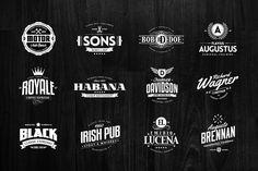36 Badges & Logos Collection by Easybrandz on Creative Market