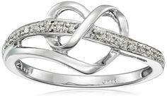 Sterling Silver Diamond Heart Ring (1/20 cttw, I-J Color, I3 Clarity) – Shop2online best woman's fashion products designed to provide