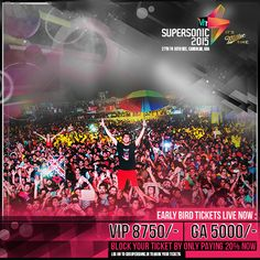 And it is sharp 12PM! Time to be the early birdie to ‪#‎GoSupersonic‬! Log on to http://www.meraevents.com/event/vh1-supersonic-goa&Ucode=DMSY to book