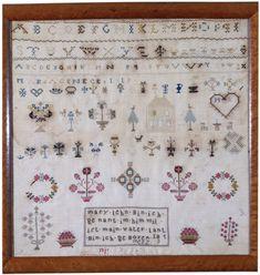 Mary Lehn - Southeastern Pennsylvania - 1819. silk on linen