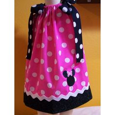 Pink Polkadot Minnie Mouse Pillowcase by boogerbearpunkinpooh ($25) ❤ liked on Polyvore