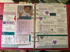 Organized Heaven's Notebook --  She puts a lot of information and memories into her planner.  Seems like it could be a good starting place.