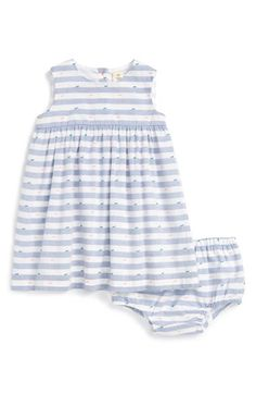 Free shipping and returns on Tucker + Tate Novelty Woven Dress (Baby Girls) at Nordstrom.com. Tiny bow-like embellishments add a sweet touch to a darling sleeveless dress complete with matching bloomers.