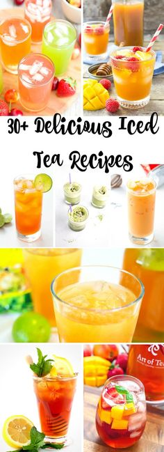 How to make 30 Delicious Iced Teas - Recipes include green sweet healthy mint lemonade and more! Iced Tea Recipes, Detox Recipes, Juice Recipes, Coctails Recipes, Dishes Recipes, Summer Recipes, Recipes Dinner, Cooking Recipes, Thyme Recipes