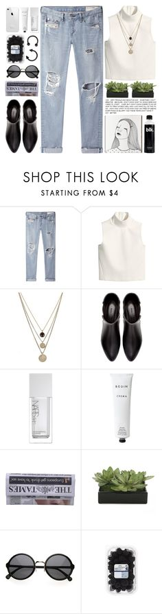 """shake me into the night, and i'm an easy lover."" by sansbeta ❤ liked on Polyvore featuring rag & bone/JEAN, H&M, LowLuv, Zara, NARS Cosmetics, Rodin and Lux-Art Silks"
