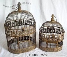 victorian by celina.johnson.505 I would love sets of birdcages like these!                                                                                                                                                     More