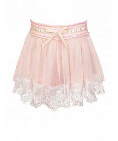 Baby Sara Pink Tutu Lace Skirt