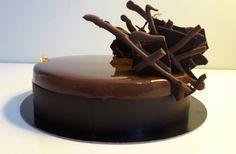 Entremet orange chocolat noir