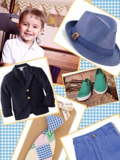 Mud pie Fedora and patchwork  tie , e-land kids shirt and pants , hanna andersson slip on shoes , lito blazer