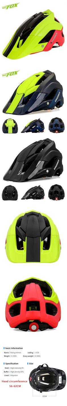 BATFOX Cycling Helmet Integrally-molded EPS+PC mtb Helmet Men's and women's Outdoor sports Bicycle helmet road 2017 bike Helmets