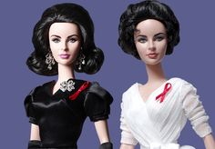New Elizabeth Taylor Barbie Dolls Immortalize The Legendary Beauty With Violet Eyes. #Barbie #Elizabethtaylor