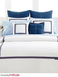 """Tommy Hilfiger's Favorite Fall Home Decor Trends —A Well-Dressed Bed: """"There is nothing like getting in to bed at the end of the day and instantly feeling good."""""""