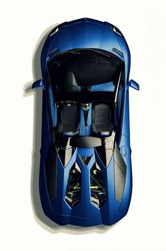 Visit The MACHINE Shop Café... ❤ The Best of Lamborghini... ❤ (2014 Lamborghini Aventador LP700-4 Roadster ~ Blue)