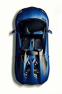 Visit The MACHINE Shop Café... ❤ The Best of Lamborghini... ❤ (2014 Lamborghini Aventador LP700-4 Roadster ~ Blue)
