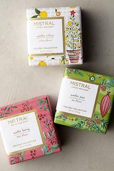 Anthropologie EU Mistral Holiday Bar Soap by Mistral.