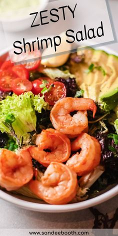 Try making this zesty shrimp salad for the perfect light lunch or easy dinner. With healthy ingredients like avocado, shrimp, tomatoes, it's a hearty salad that you can feel good about eating. Summer Salad Recipes, Summer Salads, Shrimp Salad, Shrimp Avocado, Pork Recipes For Dinner, Dinner Side Dishes, Grilled Vegetables, Easy Salads, Seafood Recipes
