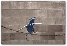 PR02998 - Banksy, szczur balansujacy