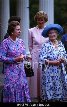 Diana & The Queen & Queen Mother