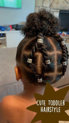 Black Baby Girl Hairstyles, Little Girls Natural Hairstyles, Toddler Braided Hairstyles, Kids Curly Hairstyles, Natural Hair Hairstyles, Toddler Braids, Girl Hair Dos, Kid Hair, Afro