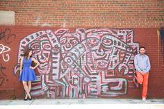 Casual Engagement Shoot in Brooklyn, NYC Photo by Christine Merson Photography