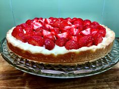 Sweet Tooth, Cheesecake, Strawberry, Food And Drink, Sweets, Fruit, Desserts, Recipes, Pies