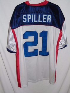 ce9066336 VTG CJ Spiller Buffalo Bills adult size 54 jersey Reebok all sewn white   Reebok