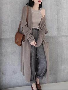 LHZSYY Autumn and winter 2018 New pre-sale, Cashmere Sweater Female Cardigan Coat fashion Loose Sweaters thick Long Wool Coat Maxi Cardigan, Long Cardigan, Longline Cardigan, Plus Size Cardigans, Cardigans For Women, Coats For Women, Clothes For Women, Ladies Coats, Vintage Clothing