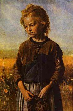 Repin, Ilya (1844-1930) - 1874 A Fisher-Girl