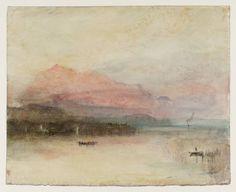 Joseph Mallord William Turner  The Rigi: Last Rays circa 1841-2  Watercolour on paper (Tate, 2012)
