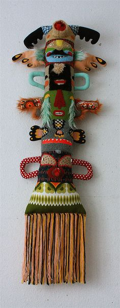 Fabric totem pole by Super Ninon.