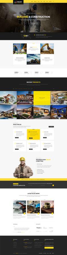 Mount - PSD Template - #PSD #Templates | Download: http://themeforest.net/item/mount-psd-template/15023767?ref=sinzo