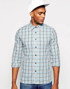 """Shirt by Kubban Soft-touch woven fabric Point collar Button placket Regular fit - true to size Machine wash 65% Cotton, 35% Polyester Our model wears a size Medium and is 188cm/6'2"""" tall"""