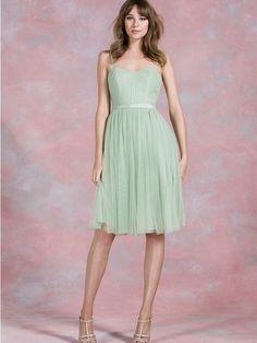 Short bridesmaid dress,mint tulle bridesmaid dress,spaghetti bridesmaid…
