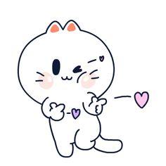 Cute Love Gif, Cute Cat Gif, Gifs, Anime Chibi, Anime Art, Cosplay Tumblr, Hug Gif, Miss Kitty, Tatty Teddy
