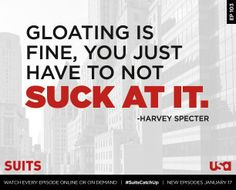 Watch every episode of Suits from the beginning online at http://suits.usanetwork.com or On Demand before new episodes return on Jan 17. #HarveyQuotes