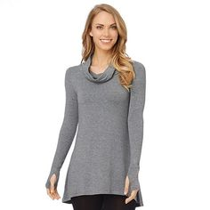 Cuddl Duds Softwear with Stretch Cowlneck Tunic - Women's