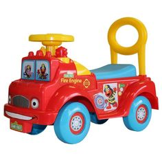 Sesame Street Fire Engine Activity Ride-On | Fun Ride on Toys for Kids