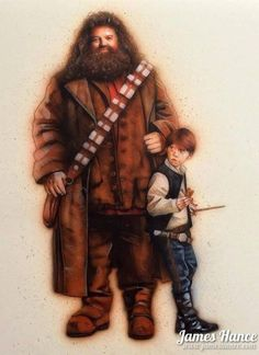 Star Wars: Harry Potter by Janes Hance - Ron Solo Thinks You Should Let The Hagrid Win Cultura Pop, Sirius Black, Star Wars Art, Star Trek, Movies Quotes, Star Wars Personajes, Plakat Design, Fandom Crossover, Nerd Love