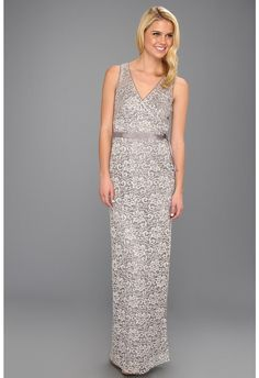 Silver Sequin Evening Dress by BCBGMAXAZRIA. Buy for $184 from 6pm.com