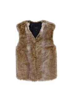 TALULA PARK SLOPE VEST - A plush faux-fur vest that you'll have a hard time keeping your hands off of