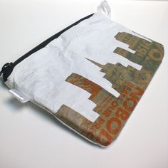 grocery bags - fused into a clutch. IDEA ONLY