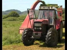Zetor 12145 with single chop at silage Tractors, Tractor