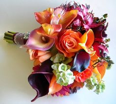 The Rachel Bouquet Real Touch Wedding Flowers in by BlueLilyBridal