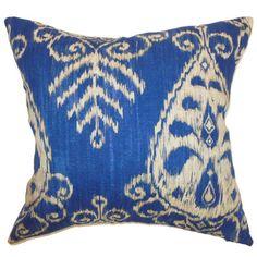 The Pillow Collection Hargeisa Ikat Cotton Pillow   Wayfair
