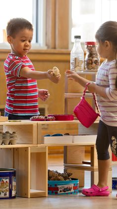 Try Hollow blocks in the role play area! Let children create a new scenario every day - today it's a shop, tomorrow it might be a zoo or a fire station.