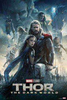 With Chris Hemsworth, Anthony Hopkins, Natalie Portman, Tom Hiddleston. The powerful but arrogant god Thor is cast out of Asgard to live amongst humans in Midgard (Earth), where he soon becomes one of their finest defenders. Best Marvel Movies, Films Marvel, Marvel Movie Posters, Marvel Comics, Poster Marvel, Cinema Posters, Marvel Dc, Anthony Hopkins, Chris Hemsworth