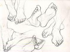 CODY'S SKETCHBOOK | A study of feet.