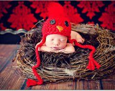 Newborn Photo Prop Baby Cardinal Hat