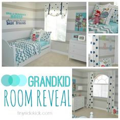 Navy Bedrooms, Teen Girl Bedrooms, Bedroom Turquoise, Striped Walls, Cozy Bedroom, Bedroom Ideas, Plans, Girl Room, Diy Home Decor